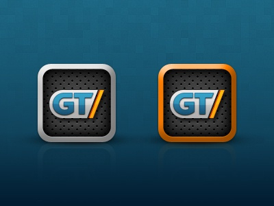 GameTrailers iOS Icon icon games grill gametrailers mtv gradient texture pattern