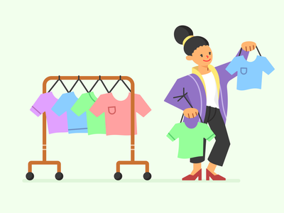 Illustration Design for Shopping theme - Clothes dress clothes ui flat illustration flat design vector shopping illustration graphic design design