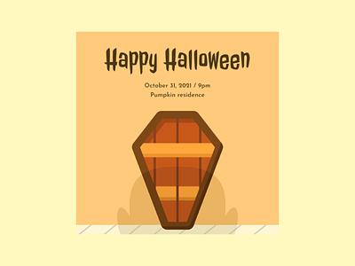 Halloween Poster Vector Illustration poster ghost halloween flat illustration flat design vector illustration graphic design design