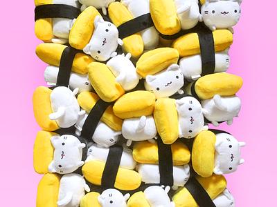 Tamago Cat Plushies are ready! tamago egg kitty sushi cat stuffed animal plushies plushie kawaii cute