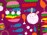 B is for Bunnies & Burgers