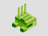 Factory illustration - Green