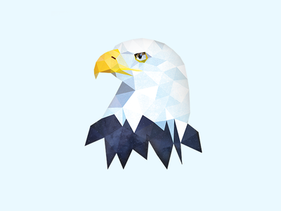 Eagle illustrator polygon polygons facets low poly lowpoly illustration eagle animal