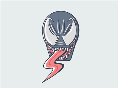 Venom vector illustrator comic marvel spiderman venom illustration