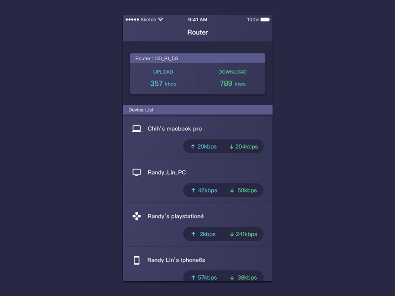 Router Ui By Randy Lin Dribbble Dribbble