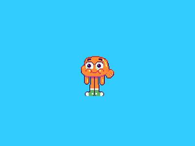 Darwin Watterson 🐠 darwin cartoon network cartoon the amazing world of gumball gumball fish animal character design ilustracion icon flat graphic design vector illustration