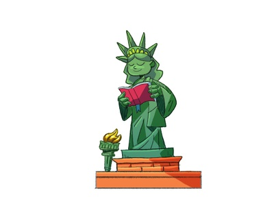 Read More 📚 love character character design characterdesign flat vector graphic design illustration illustrator books book read more read united states us america statueofliberty statue statue of liberty