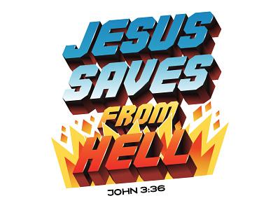 🅙🅞🅗🅝 ➌:➌➏ christianity christian tshirt jesus saves hell jesus jesus christ bible design bible verse bible graphics logo modern ilustracion flat graphic design vector illustration