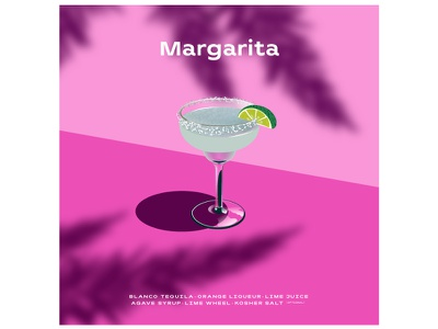 Margarita 🍋🍹 poster art poster graphicdesign concept summer lime lemon drinks drink margarita cocktails cocktail graphics modern ilustracion flat graphic design vector illustration