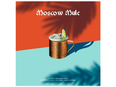 Moscow Mule ice lime summer lemon drinks cocktail party drink cocktail bar cocktails cocktail branding graphics modern icon ilustracion flat graphic design vector illustration