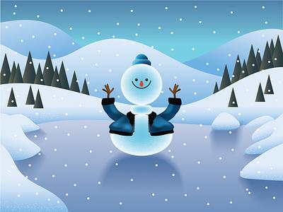 Winter is Here! ☃️ fashion cartoon character characterdesign cartoon character snowflake snow snowmen christmas winter snowman character design ilustracion flat graphic design vector illustration