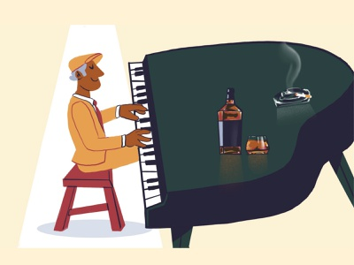 Pianist 🎹 musician licorice music pianist piano jazz festival jazz character design modern icon ilustracion flat graphic design vector illustration