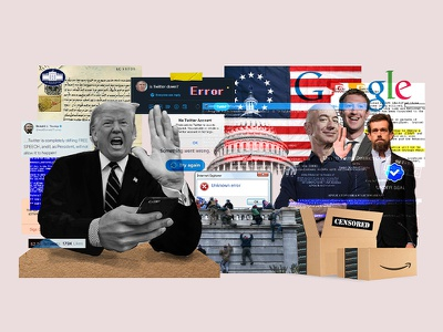 This is America parler error president collage maker amazon united states donald trump capitol collages twitter facebook social media trump collageart collage art collage graphic design vector illustration