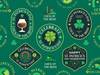 St  Patrick s Day 🍀 ireland boot beer lucky saint pratricks day st patricks day st patricks logos badges badge graphics logo modern icon ilustracion flat graphic design vector illustration