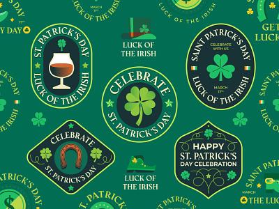 St  Patrick s Day 🍀 ireland boot beer lucky saint pratricks day st patricks day st patricks logos badges badge graphics logo modern icon ilustracion flat graphic design vector illustration
