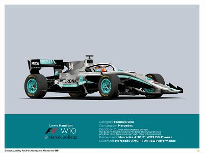 Mercedes AMG F1 W10 - Lewis Hamilton free sale prints print racing formula one formula1 f1 car mercedes-benz mercedes benz mercedes f1 lewis hamilton ilustracion flat graphic design vector illustration