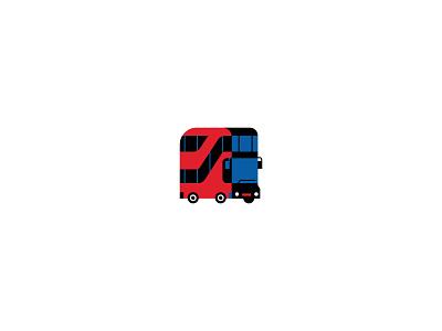 Transit bus icon red bus uk traffic traffic trasnport bus transit uk transport uk bus uk uk transit logo icon ilustracion flat graphic design vector illustration