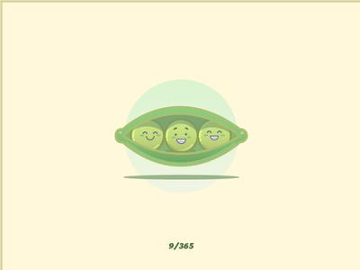 'Peas' Challenge 009/365 icon food great green vetch veggie pea design flat vector graphic illustration