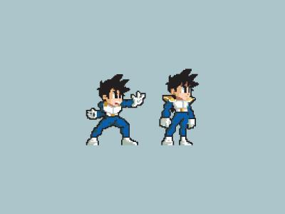 Gohan Sprite pixelart cartoon dragonball graphics dbz illustration design pixel