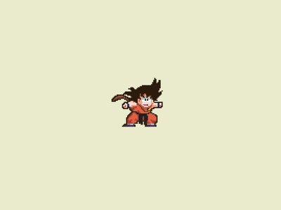Kid Goku goku pixel design illustration dbz graphics dragonball cartoon pixelart