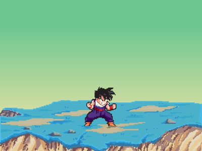 Gohan -Namek Saga- gohan pixel design illustration dbz graphics dragonball cartoon pixelart