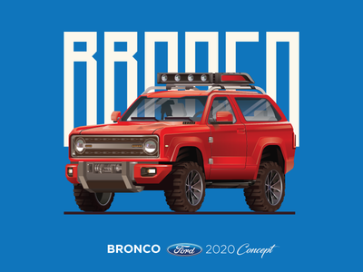 Ford Bronco 2020 Concept ford cars car truck illustration 4x4 graphic vector