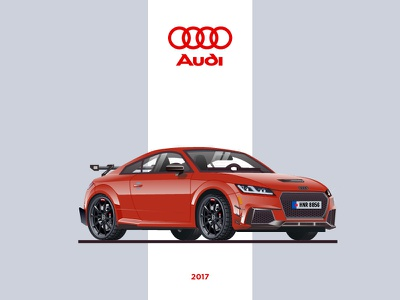 Audi TT RS Performance Parts sport car audi tt audi tt rs audi cars car tt illustration rs graphic vector