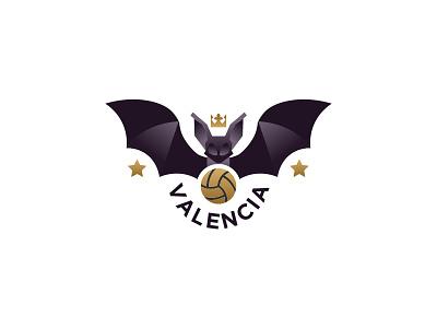 Valenciad Crest la liga valencia fc bat crest soccer valencia badge emblem illustration logo graphic vector