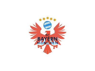 Bayern Munchen Crest bundes liga bayern munchen bird crest soccer fc bayern munchen badge emblem illustration logo graphic vector