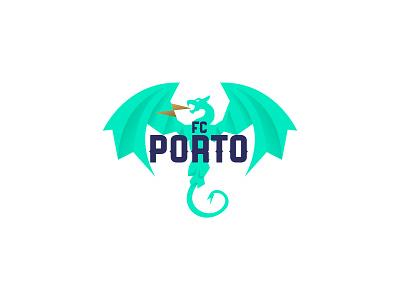 Porto Crest portugal fc porto dragon crest soccer oporto badge emblem illustration logo graphic vector