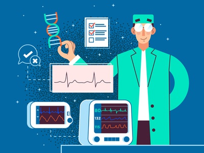 Heart Beat ❤️🔄 medicine results heart beat heart icon graphics ilustracion character design science health care healt modern icons flat graphic design vector illustration