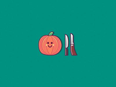 Time to carve 🎃 vegetables vegetable halloween bash halloween design fall love cute knifes knife pumpkin halloween graphics character design ilustracion modern flat graphic design vector illustration