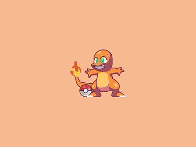 #004 switch 3ds gameboy nintendo pokemongo pokemon go orange pikachu pokeball fire charmander pokemon animal character design modern ilustracion flat design vector illustration