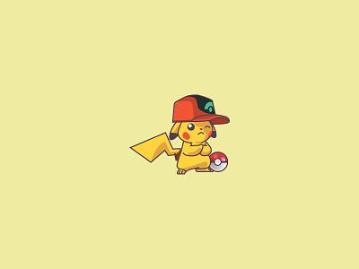 ⚡Pikachu⚡ pokeballday cute pikachu pokemongo pika pokemon go yellow electric pokeball pokemon pikachu character design modern ilustracion logo flat design vector illustration