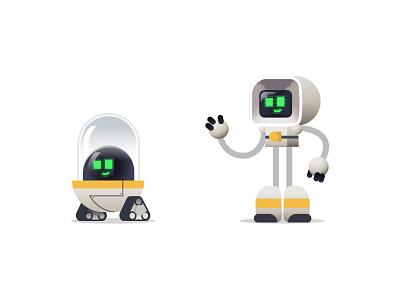 Robots V0.5 helper space love cute robots cute robot cute hello robotics robotic robot robots graphics modern character design ilustracion flat graphic design vector illustration