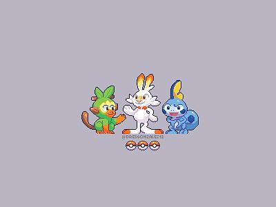 Gen 8 gen 8 pikachu pokeball pokemon go pokemongo pokemon pixelart pixel art character design modern ilustracion graphic design illustration