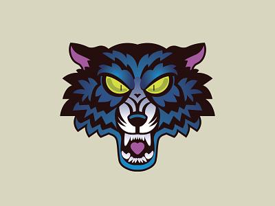 🐺 Fighter Spirit 🐺 wolfpack scary halloween wolfman wolf logo wild animals wild animal wolf face lobo wolf branding animal modern ilustracion icon flat graphic design vector illustration