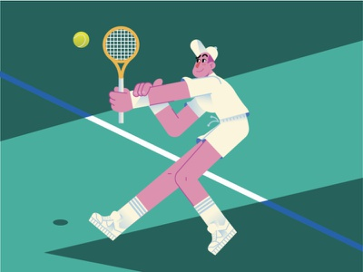 Tennis 🎾 sport sports guy characterdesign tennis open roger federer rafael nadal tennis ball tennis player tennis graphics character design modern ilustracion icon flat graphic design vector illustration