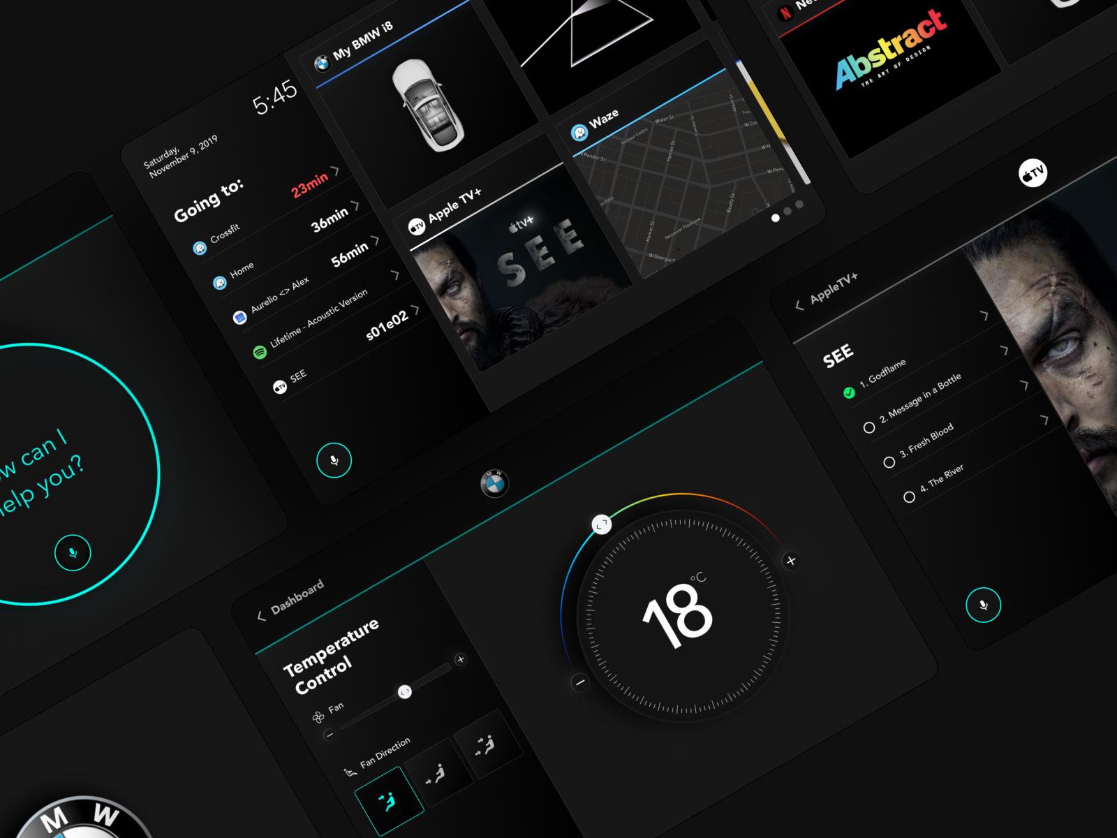 BMW i8 (Infotainment System for cars | Design Concept)