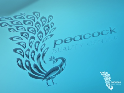 Peacock Logo icon branding logo graphic mockup design