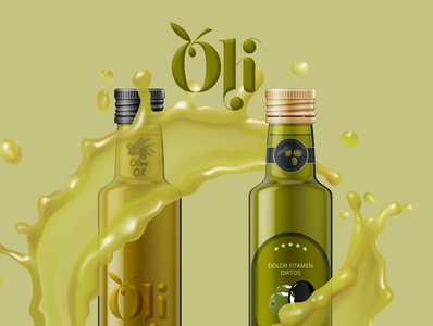 oli oil logo and label branding logo graphic mockup design
