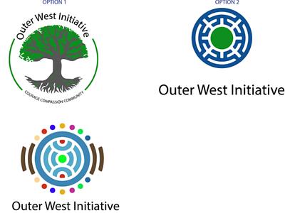 outer West Initiative logo branding logo