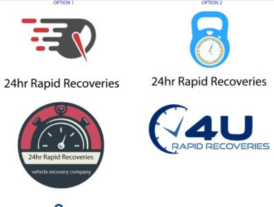 24hr Rapid Recoveries logo graphic design logo branding