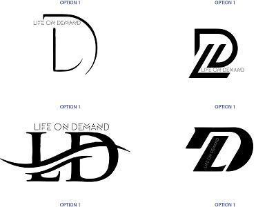 LIFE ON DEMAND logo branding logo