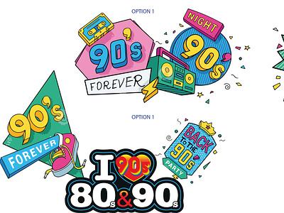90s design branding logo motion graphics graphic design 3d animation ui