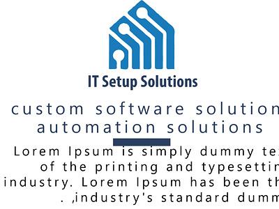 IT Setup Solutions branding logo motion graphics graphic design