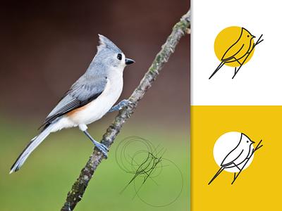 BIRD logo concept golden ratio logo minimal symbol animal vector lineart illustration design icon graphic design logo bird