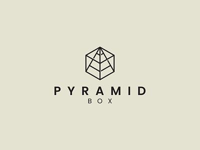 PYRAMID BOX logo vector pyramid box symbol branding illustration icon design minimal logo lineart graphic design