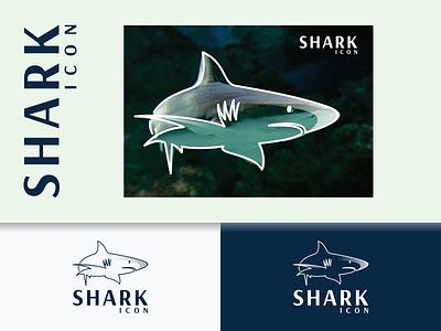 SHARK ICON logo vector inspirations logo awesome logo shark animals branding lineart design minimal logo icon illustration graphic design