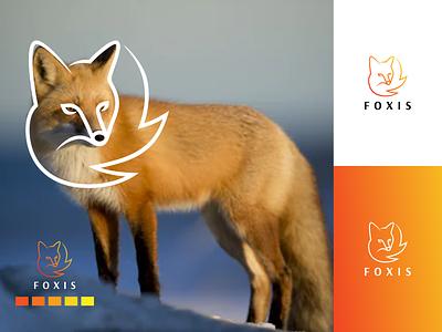 FOXIS logo symbol fox animals vector branding lineart minimal design logo icon illustration graphic design